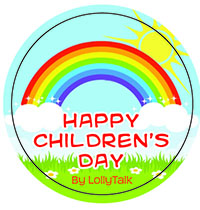 Children's Day sticker label