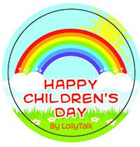 Children's Day sticker label