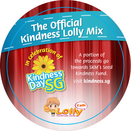 The Official Singapore Kindness Lolly Mix sticker label version 1.2