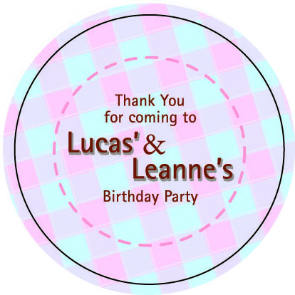 Birthday Sticker Labels
