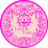 Wedding sticker label