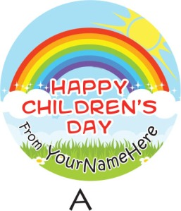 Children's Day 2014 Sticker Label Available during Pre-Order Phrase... Template A.