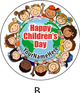Children's Day 2014 Sticker Label Available during Pre-Order Phrase... Template B