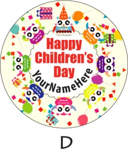 Children's Day 2014 Sticker Label Available during Pre-Order Phrase... Template D