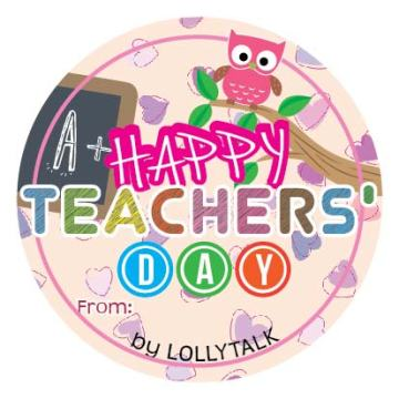 Teachers' Day 2015 32mm Sticky Labels Design A
