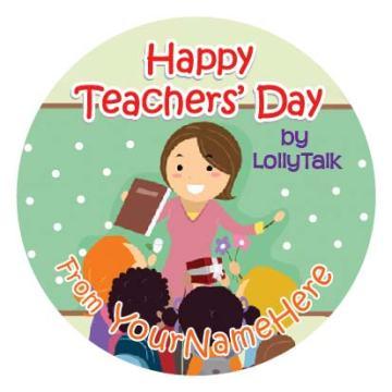 Teachers' Day 2015 32mm Sticky Labels Design B