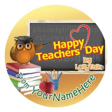 Teachers' Day 2015 32mm Sticky Labels Design C