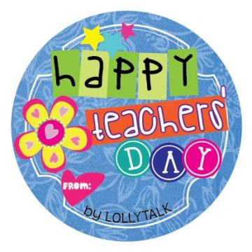 Teachers' Day 2015 32mm Sticky Labels Design E